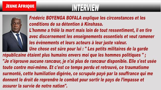 Témoignage – Frédéric Boyenga raconte sa détention au secret en RDC